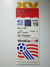 1994 FIFA World Cup Game 19 Ticket Stub Brazil vs Cameroon at San Francisco st35