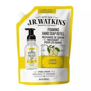 "J.R. Watkins Lemon-Citron""Foaming""Hand Soap Refill Pouch 28 Fl.OZX1 🍋🍋🍋"