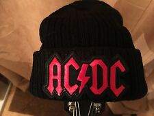 AC/DC WINTER BEANIE HAT. ONE SIZE - BLACK OR GREY.