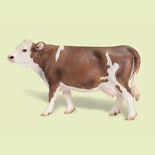 """13641-""""Fleckvieh-Kuh""""-""""Simmental Cow""""-Schleich-NEU mit Fähnchen-NEW with tag!!"""