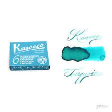 Pk/6 Kaweco Fountain Pen Ink Cartridges, Paradise Blue (Turquoise)