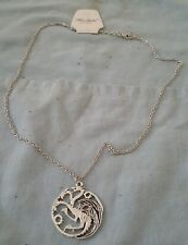 Game of Thrones Targaryen Royal Family Sigil Argent Collier Dragon Fire & Blood