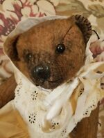 English Mohair Aged & Fully Jointed Artist Bear By Janet's Bears