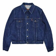 Vintage 70s Levi Red Tab Blue Denim Type 3 Trucker Jacket Made In France 46 XL