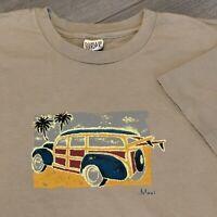 Maui Hawaii T Shirt Mens XL Adult Brown Beach Car Vacation Surf Island USA NWT
