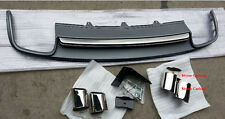 S4 Style PP Rear Diffuser With Exhaust Tips For 2009 2010 2011 Audi A4 B8 Only