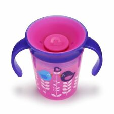 Munchkin Miracle 360 Degrees Deco Trainer Cup 6 Oz177 Ml Pink Bird