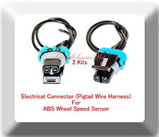 2 Kits Electrical Connecor of ABS Wheel Speed Sensor ALS482 Fits: GM