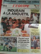 journal  l'équipe 30/07/91 CYCLISME TOUR DE FRANCE 1991 INDURAIN JUDO NOWAK