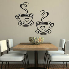 Coffee Cups Cafe Tea Wall Stickers Art Vinyl Decal Kitchen Restaurant Pub Decor