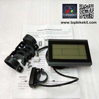 24V/36V/48V KT-LCD3 Display Meter Control Panel for Electric bike Black Color