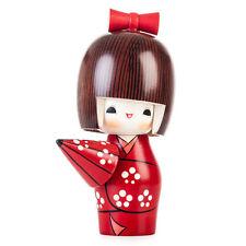 Tiempo soleado niña feliz Kokeshi Muñeca