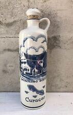 Vtg Blue Delft Curacao Souvenir Chobolobo Distillery Liqueur Bottle 2426 Holland