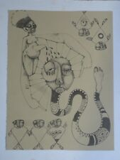 Modern Abstract Ltd Ed Artist Signed And Titled Etching, Style of Salvador Dali