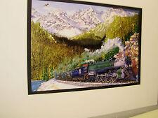Great Northern RR Flathead River Montana  Artist Railroad Archives bt