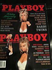 Playboy Magazine January 1993 Barbi Twins Playmate Review