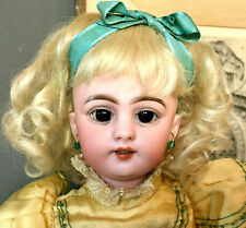 """Early 14"""" Cabinet Simon & Halbig # 1009 5 - Antique Bisque-Head German Doll"""