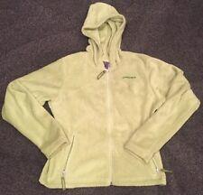 Spyder Lime Green Fleece Full Zip Hooded Jacket Women's Size 8
