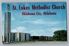 Oklahoma City OK St. Lukes Methodist Church Postcard 1950s