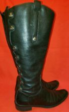 Matisse Sargent Riding Boots  6.5M Black Real Leather, Military Look, 9 Buttons