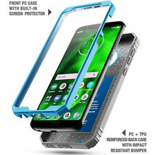 For Moto G6 POETIC【Revolution】Rugged Case Shockproof Heavy Duty TPU Cover Blue