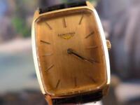 Classic Collectible Men's/Ladies' Longines Gold Plate Auto Watch 28mm
