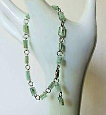 """Vintage Roman Glass Sterling Adjustable Bracelet  6"""" to 8.5"""" 1980's Design"""