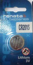 Renata Lithium Batterie CR2016 ED: 12.2025 -  3 Volt 90 mAh Knopbatterien PRC