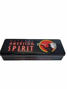 Natural American Spirit Collectible Cigarette Tobacco Black Box Metal Carton Tin