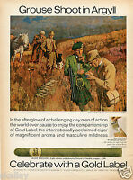 1970 Print Ad of Gold Label Light Brigade Cigar Grouse Shoot Moors of Argyll