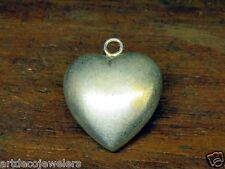 Vintage sterling silver PUFFY PUFF HEART charm CHARMS FOR BRACELET #M