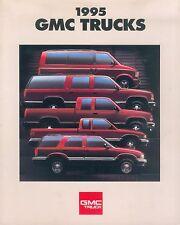 GMC Trucks 1995 Prospekt USA brochure Auto PKWs Autoprospekt Broschüre Amerika
