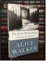 The Same River Twice ✎SIGNED✎ by ALICE WALKER N/F Hardback 1st Edition Printing
