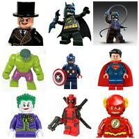 Lego Iron Man Marvel Flash Batman Superman Joker Super Hero Hulk Mini Figures