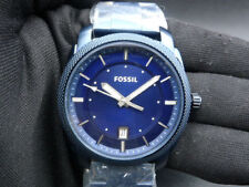 New Old Stock- FOSSIL MACHINE FS5231 -Navy Dial Stainless Steel Quartz Men Watch