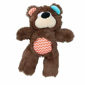 Super Tough Plush Bear Dog Toy With Squeak 26cm/10""