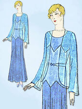1930s VTG Ladies Home Journal Sewing Pattern 6500 FF Flapper Evening Gown Sz 38B