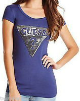 GUESS Designer T Shirt Tee Top Crew Neck Graphic Short Sleeve Bnwt NEW