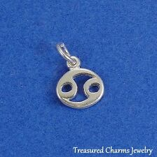 .925 Sterling Silver CANCER ZODIAC SIGN CHARM PENDANT *NEW*