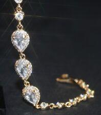 3 Drop Created Diamond Bracelet 15.5 - 18cm / 6.10 - 7.08 inches (Adjustable)