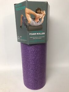 "Gaiam Restore Foam Roller 18"" Muscle Therapy Total Body, Pro Quality- New"
