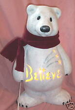Personalized Ceramic Polar Bear Accent Table Lamp