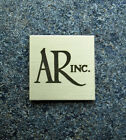 SOLID SATIN BRASS Acoustic Research AR TURNTABLE or 4x Emblem Badge Logo
