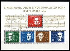 Germany - Bund - 1959 Beethoven Mi. Block 2 MNH