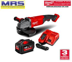 MILWAUKEE M18FLAG230XPDB-121C ANGLE GRINDER KIT 12Amp Battery Inc - 4933464116