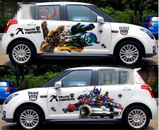 A Pair Transformers Optimus Prime Bumblebee Car Door Vinyl Decal Sticker New
