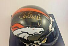 John Elway signed Denver Broncos NFL Mini Helmet w/ COE & Case