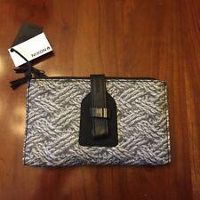 Nixon Womens Clutch Style Wallet Black Gray Rope Mitt Print Brand New!
