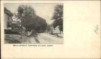 Central Village CT Main St. c1905 Postcard