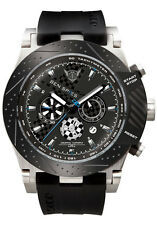 Jorg Gray Mens JG6700-11 Black Dial Black Polyurethane Band Stainless Watch